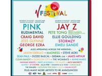 V festival ticket for saturday in stafford