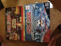 Monopoly Star Wars episode 1 and 2006 world cup edition