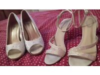 Two pairs of size 7 wedding shoes