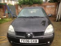 06 MODEL Renault CLIO 1.4 DIESEL LONG MOT EXCELLENT CON/ DRIVE SPOT ON ONLY £30 ROAD TAX A YEAR
