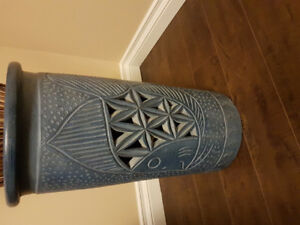 Pottery umbrella stand/vase