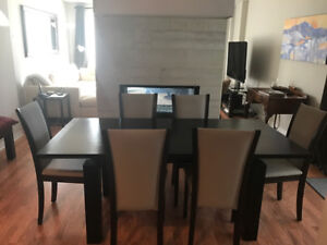 Danish made Skovby brandy table and chairs