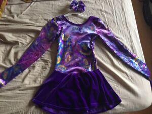Mondor Figure skating dress with scrunchie