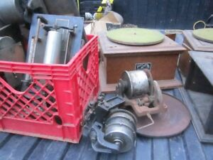 2   working  Phonographs   plus   spare parts