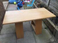 Large wooden desk