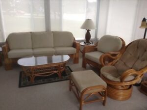 Rattan sunroom set