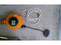 Retractable 8m 240v Cable Reel Extension Lead. (Wall Mounted)