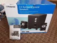 Polaroid 2.1 Surround Sound Speakers