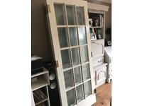 Large glass panelled doors