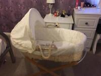 Moses Basket - Teddy's Toy Box (Mothercare) £20