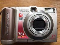 Canon Powershot A20 digital camera
