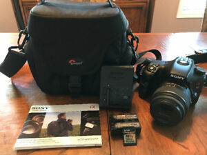 Almost New Sony Alpha A57 DSLR Full Kit  + Extras