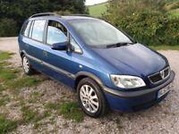 2002 Vauxhall Zafira 2.0ltr Dti, long mot