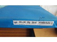 A2 size PAPER 220gsm colour blue 450 x 640, 200 sheets/box