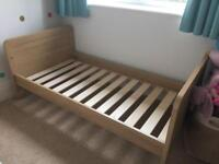 Mamas and Papas Oak effect Cotbed/ cot and toddler bed
