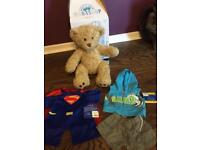 Build a bear with box and 2 Brand New Outfits