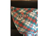 Royal & Awesome tartan golf trousers