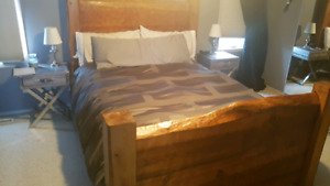 Solid Wood Custom Queen Bed