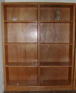 1x Oak Book Case.  $45.00