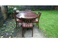 Mahogany Dining Chairs x4