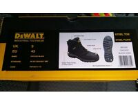 Dewalt safety boots steel toe cap and also steel plate one pair size 8 one pair size 9