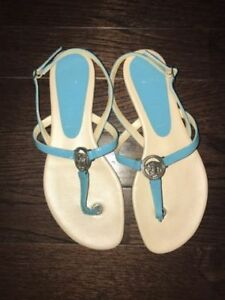 Turquoise Versace Medusa Thong Strap Sandals in 36.5 / 6.5