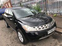 58 plate 2008 Nissan Murano automatic 4x4 LOW mileage * SPARES OR REPAIR * A/C sat nav Leathers