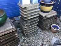 Textured patio slabs