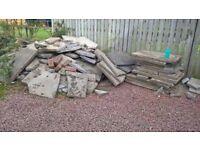 various whole and broken slabs and bricks FREE