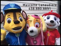 Location Mascotte Pat Patrouille CHASE - MARCUS - STELLA - 40$