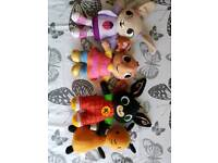 4 Bing plush soft toys Bing, Flop, Sula and Coco