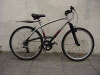 Mens Hybrid/ Commuter Bike by Decathlon, Silver & Black, Light Ali Frame, JUST SERVICED/ CHEAP PRICE
