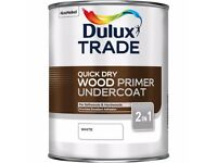 Dulux Trade Quick Dry Wood Primer Undercoat (5 litter) - NEW