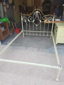 brass and iron bed