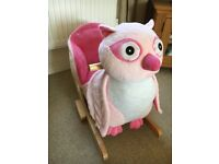 Pink Owl Child Rocker