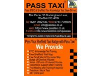 Sheffield Taxi Knowledge Test Training & BTEC Level 2 (For New Taxi Drivers) & Sheffield Wall Map