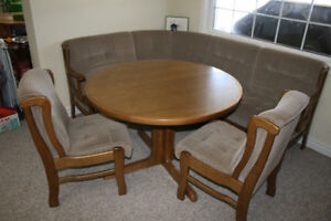 Dining Table set with corner bench and chairs