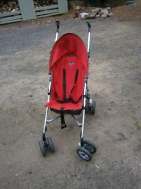 Red Chicco Stroller for sale good condition except for one slightly damaged handle £20 ono