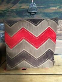 Filled cushion covers. Red, brown, gold, bronze colour x4