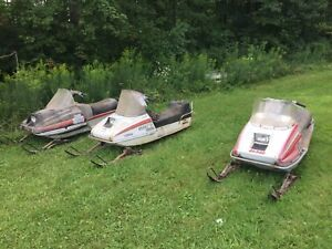 Three old sleds 1976-1984