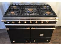 Lacanche cluny range cooker in black and brass