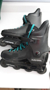 Inline Skates Men's Size 9-Includes Knee, Elbow & Wrist Pads