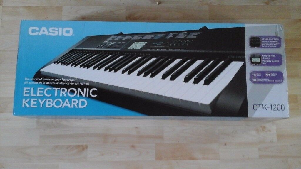 Casio Electric Keyboard CLK 1200in Pennington, HampshireGumtree - Casio Electric Keyboard CLK 1200 for sale. Perfect condition. Never used or taken out of the box. Can be used for beginner or professional. £50 no offers