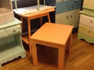 Soft orange side table $25 -1 available
