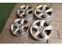 "Genuine Audi Q3 18"" Alloy wheels 5x112 Audi A4 VW Golf Passat Caddy Touran Alloys"