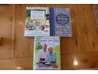 3 baking books Bake Off TREAD the Globe