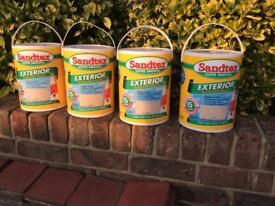 Sandtex, super smooth, masonry paint.