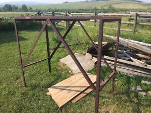 Metal Frame - possibly for bulk gas tank?