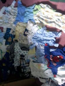 LARGE GARBAGE BAG FULL BABY BOY CLOTHES PLUS MORE