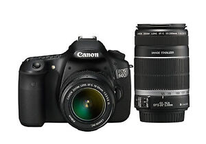 Canon  EOS 60D DSLR Camera Body with 18-55mm and 55-250mm Lenses
